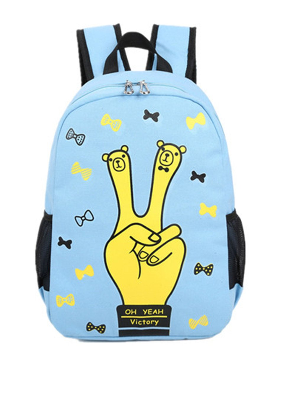 8ecc6e8a8a TANG imp Cute Fingers Teenage Girls Students Canvas Backpack Casual  Travelling Outdoor Rucksack Lightweight Shoulder Bookbags Schoolbag Blue   Amazon.co.uk  ...