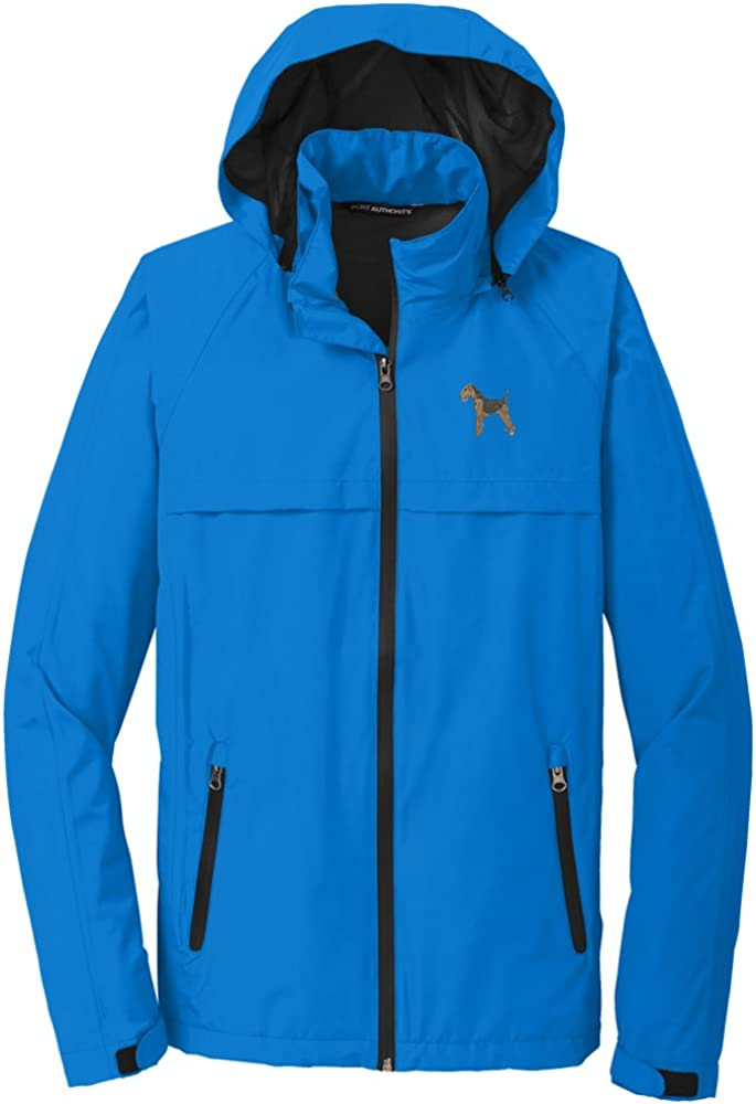 YourBreed Clothing Company Airedale Terrier Mens Rain Jacket