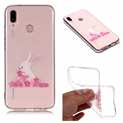 Huawei P20 Lite Case, Clear Hybrid Fancy Colorful Pattern Hard Soft Silicone Back Case Cover For Huawei P20 Lite/Nova 3e phone (2)