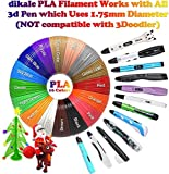 3D Pen Filament 320 Feet, Bonus 250 Stencils eBooks - 3D Pen pla Filament 1.75mm for MYNT3D Tecboss diakle 3D Pen etc