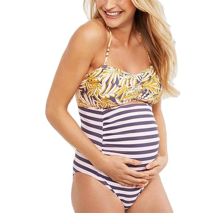 Tankini Embarazada Traje de Baño Mujer Maternidad Bañador ...