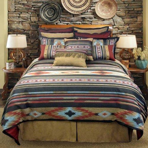 Veratex Santa Fe Collection 100  Polyester Bedroom Comforter Set  Full Size  Southwestern