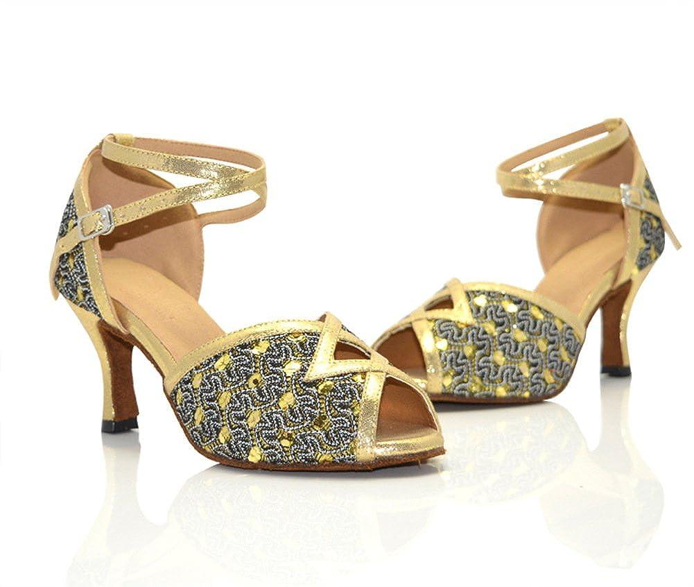 WYMNAME WYMNAME WYMNAME damen Latin Tanzschuhe Ausdruckstanz Square Dance Schuhe Sandale 1bdbef