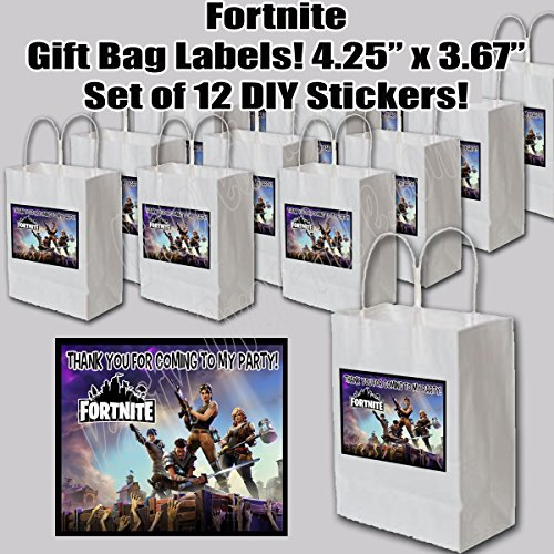 FORTNITE Stickers Video Game Truck Party Favors Supplies Decorations THANK YOU Gift Bag Label STICKERS ONLY 3.75