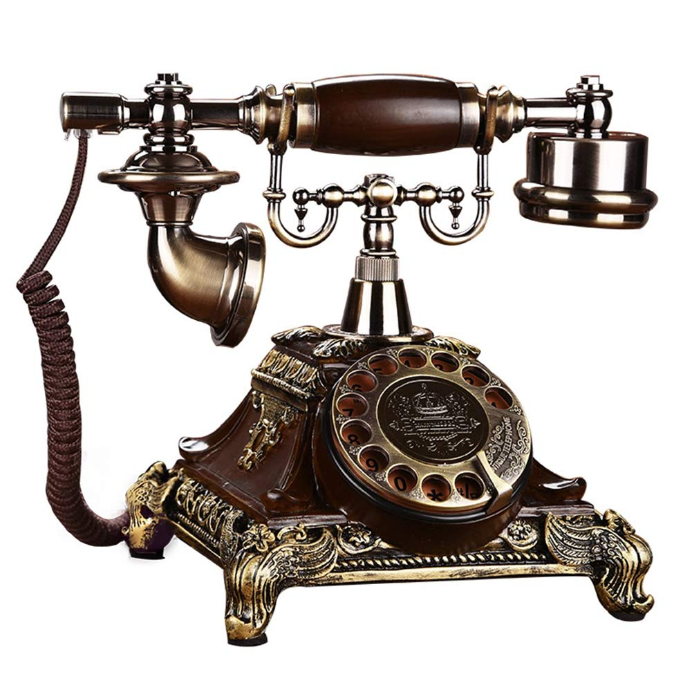 European Retro Telephone Landline Home Antique Telephone Fashion Creative Old-Fashioned Rotary Phone by Telephone