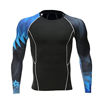 Add Muscle Male Tight t-Shirts Long Sleeve Printed On Both Sides Of Fitness Base Layer Weights To Wear 123 XXL