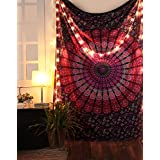 Pink Tapestry Mandala Wall Hanging Boho Home Decorative Table Cloth Purple Indian Cotton Curtains Bohemian Hippie Dorm Decor Room Divider Bed Spread Beach Throw Blanket Hippy By Rajrang