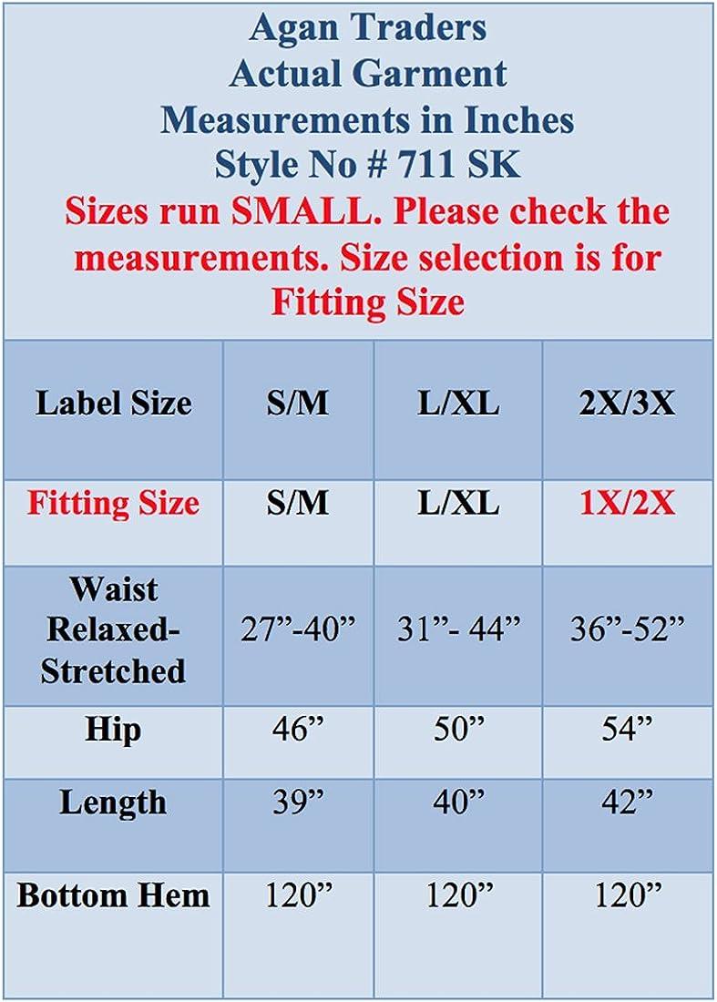 Agan Traders 711 SK Womens Boho Elastic Waistband Vintage Medieval Gothic Long Skirt Maxi