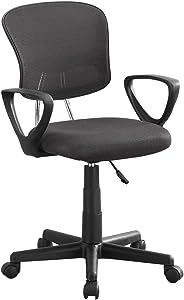 Monarch Specialties Mesh Juvenile/Multi Position Office Chair, Grey
