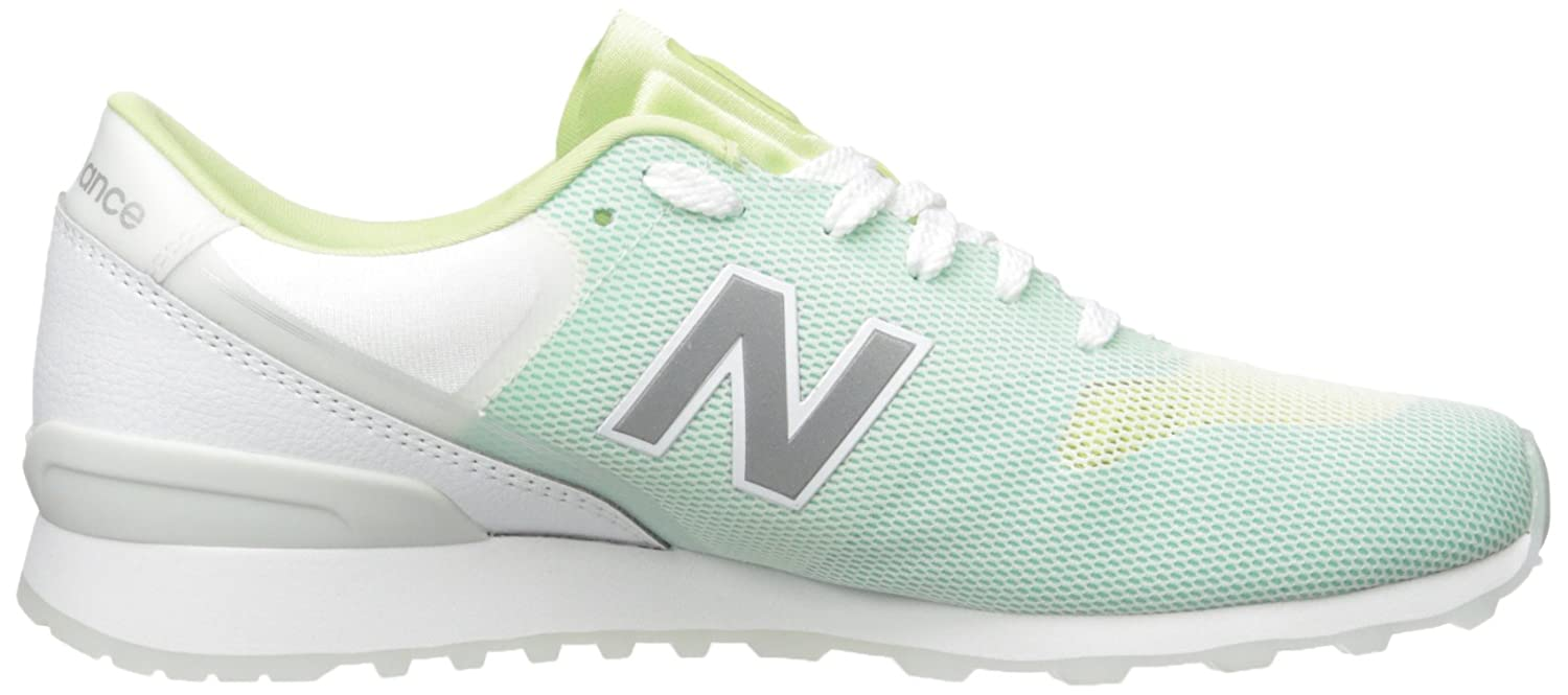 New Balance Women's 696 Re-Engineered Lifestyle Fashion Sneaker B01LXDDVBK 10 B(M) US|Green/White