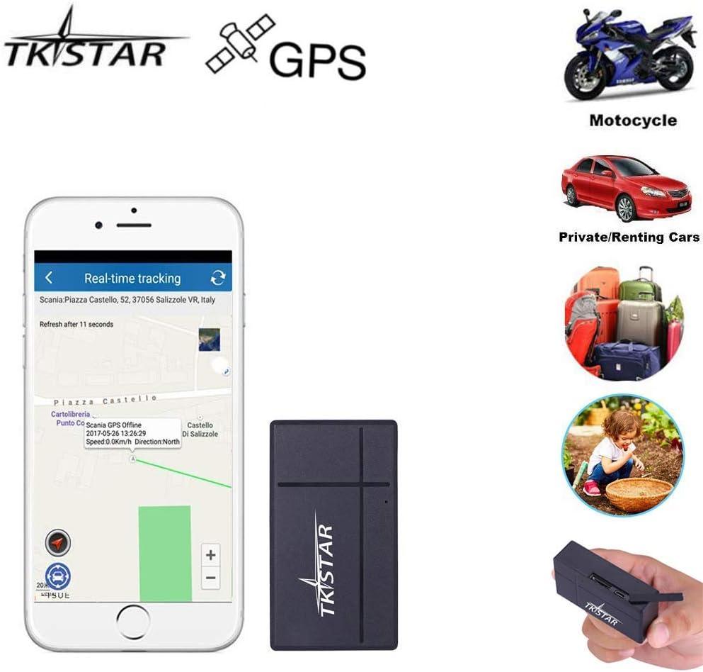 Mini GPS Tracker, TK903B SMS/App Tiempo Real Localizador para Totalizador Infantil Lost Find Aplicaciones Gratuitas para iOS y Android: Amazon.es: Electrónica