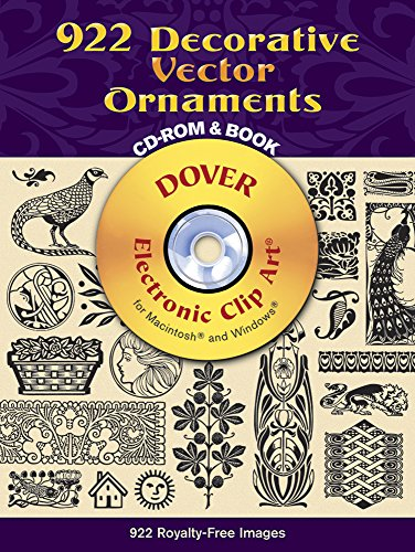 (922 Decorative Vector Ornaments CD-ROM and Book (Dover Electronic Clip)