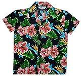 #5: Hawaiian Shirts Boys Allover Flower Beach Aloha Party Camp Holiday Casual