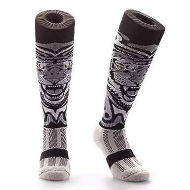 Calcetines hasta la rodilla unisex, diseños originales y divertidos, de la marca Samson Hosiery®, color White Tiger, tamaño S: Amazon.es: Ropa y accesorios