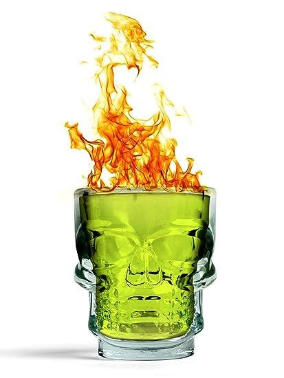 PackNBUY Set of 2 Skull Head Tequila Vodka Alcohol Shot Glasses