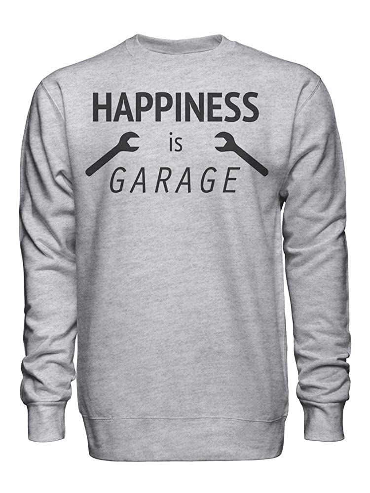 Happiness is Garage Unisex Crew Neck Sweatshirt