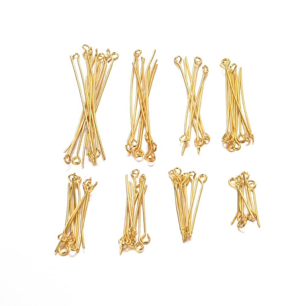Pandahall 500pcs 22 Gauge 304 Stainless Steel Open Eyepins 1-1/5 Inch (30mm) for DIY Jewelry Making