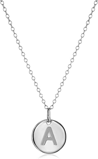 925 Silver Old English Initial Pendant Chain .75 Inch Height.