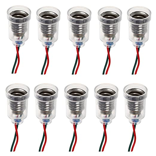 GutReise 10pcs E10 lámparas base E10 screw-mount pequeñas bombillas LED E10 titular base de