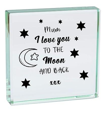 Mum I Love You a la luna y parte posterior modo de cristal ...