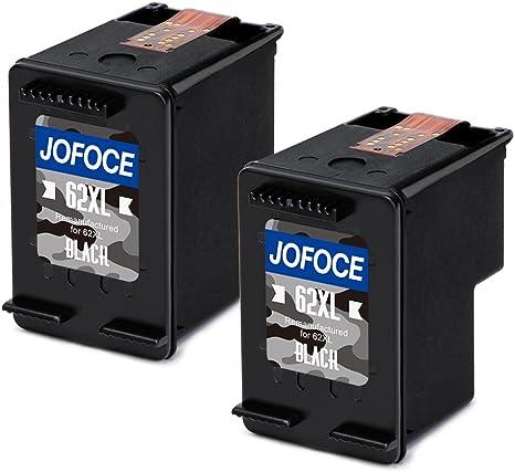Jofoce Remanufacturado HP 62 62XL Cartuchos de tinta 2 Negro ...