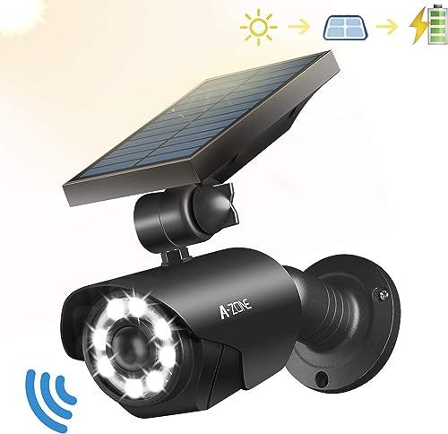 Solar Motion Sensor Light Outdoor – 800Lumens 8 LED Spotlight 5-Watt Solar Lights Outdoor IP66 Waterproof, Wireless Solar Flood Light for Porch Garden Patio Driveway Pathway,Aluminum Black