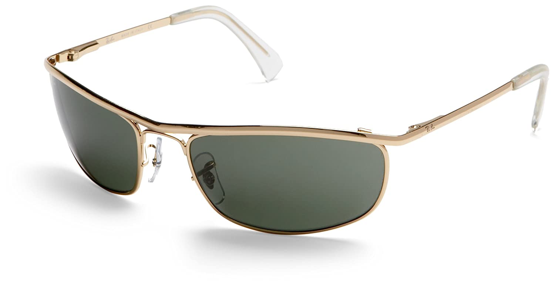 a090dd7ec42 Amazon.com  Ray-Ban RB3119 Olympian Sunglasses Arista Crystal Green 59mm   Ray-Ban  Shoes