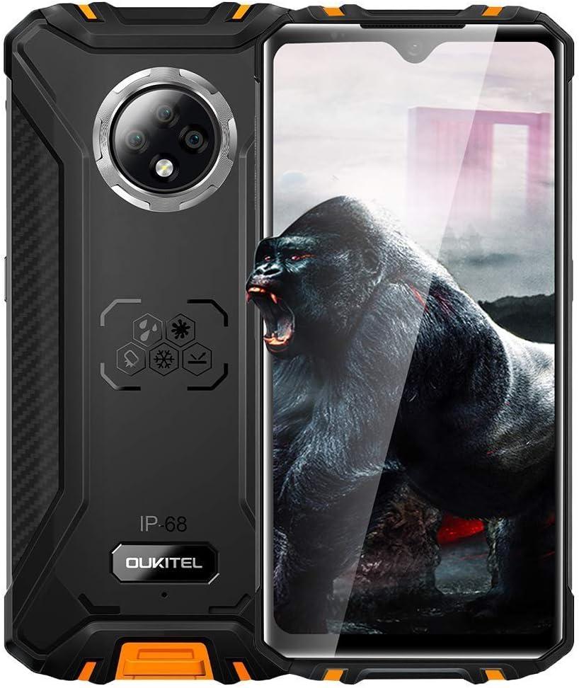 "OUKITEL-WP8-Pro Smartphone Fingerprint Rugged Phones - 6.49""Display, 4GB 64GB Dual SIM IP68 Waterproof Unlocked Cell Phones, 16MP Triple Camera Face ID, GPS NFC,US Version Orange"
