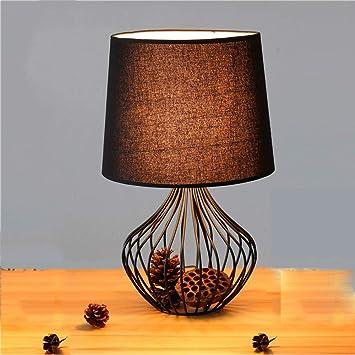 ZR Lámpara de Mesa Decorativa Moderna Jaula de pájaros ...