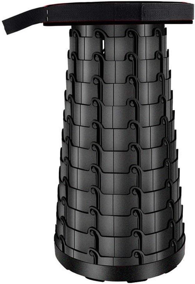 Vobajf Silla Plegable Portátil Asiento del Recorrido de la Carga máxima de 130 kg retráctil Taburete Plegable Silla de Playa Silla Plegable Gabinete Comedor (Color : Black, Size : One Size)