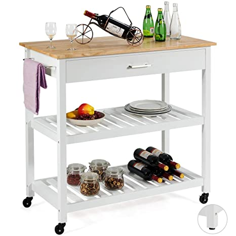 Amazon.com: Giantex Kitchen Island Cart Carrito multiusos ...