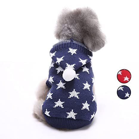 Star Knitted Dog Sweater 4b3ccccce63