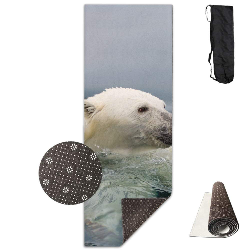 Polar Bear of Iceberg Yoga Mat  Advanced Yoga Mat  NonSlip Lining  Easy to Clean  LatexFree  Lightweight and Durable  Long 180 Width 61cm