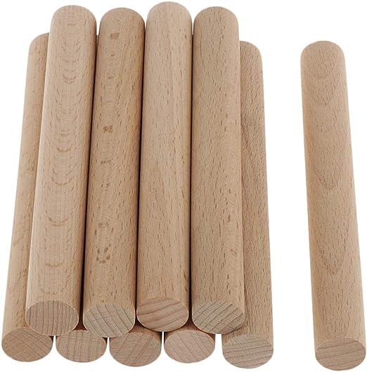 Longitud de barras redondas 1000 mm GEDOTEC Varilla redonda 6 mm bastones BEECH hechos a mano troncos manualidades y jard/ín 10 piezas palos madera estables de alta calidad Hecho alemania