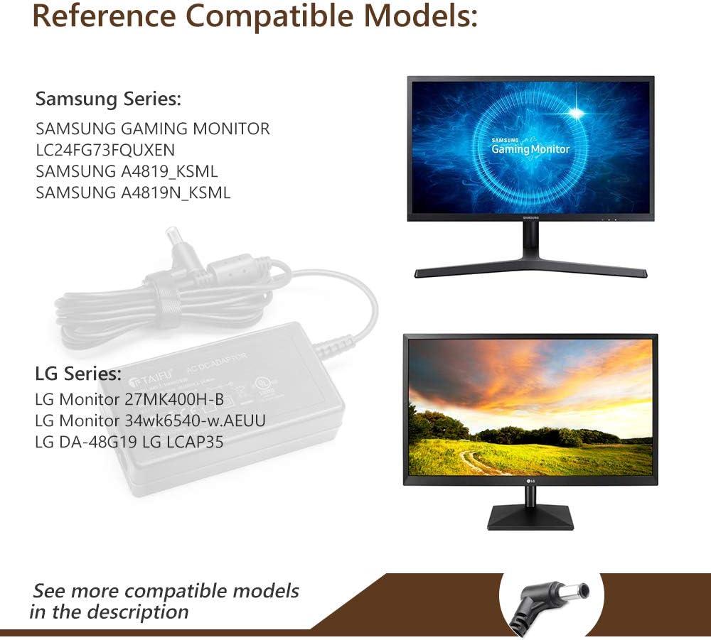 TAIFU Adaptador Cargador 19V 3,42A para Samsung UN32J4000 UN32J4000AF UE32J4000AW UN32J525 32