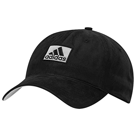 3c3118e9 Amazon.com : adidas Cotton Relaxed Hat Black One Size Fits Most ...