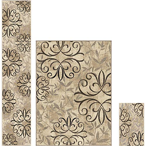 Better Homes and Gardens Iron Fleur 3-Piece Area Rug Set from Better Homes & Gardens