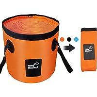 Collapsible Bucket, Esthesia 5 Gallon Bucket Multifunctional Portable Collapsible Wash Basin Folding Bucket Water…