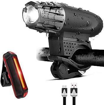 BeiLan Luz Bicicleta USB, Linterna Bicicleta Impermeable con Luz ...