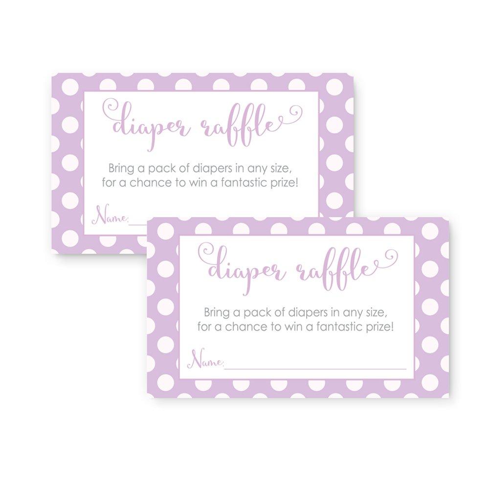Amazon.com : 50 Purple Baby Shower Invitations and Envelopes (Large ...