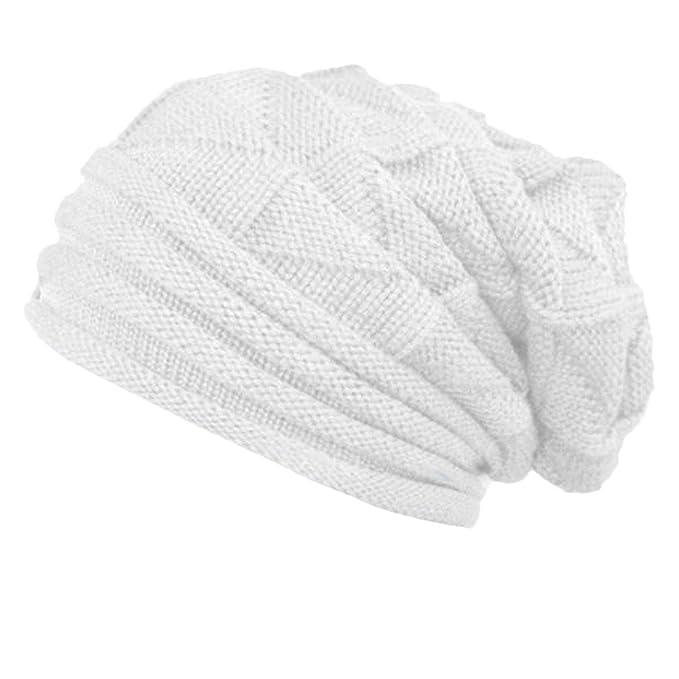 Solide Gestreift Crochet Hat Beanie Frauen Kappen Wolle Gestrickt