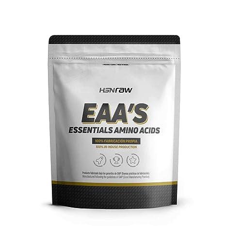 Aminoácidos Esenciales en Polvo de HSN Raw | EAAs (Essential Amino Acids) | Síntesis de Proteínas, Aumento de Masa Muscular, Recuperador Muscular | ...