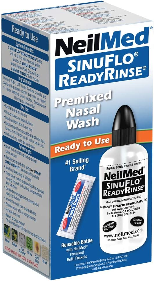 Neil Med SinuFlo Ready Rinse, 8 ounces Bottle: Health & Personal Care