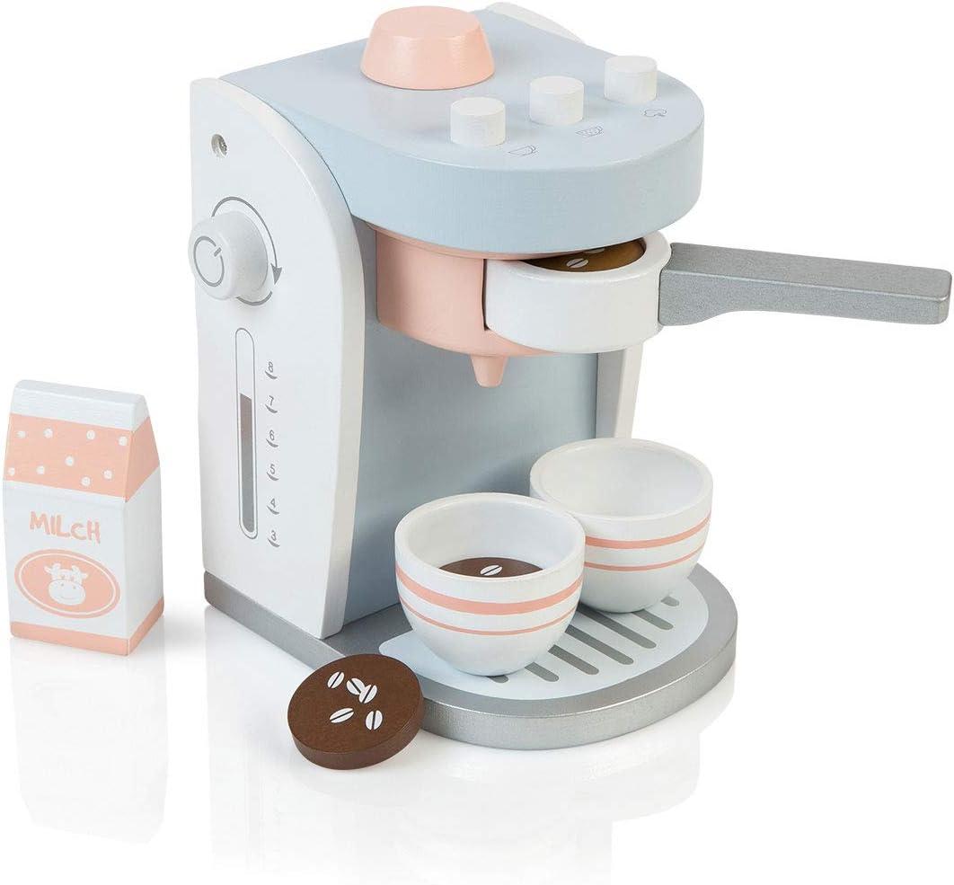 MUSTERKIND ® Koffiezetapparaat Olea wit grijsblauw: Amazon.es ...