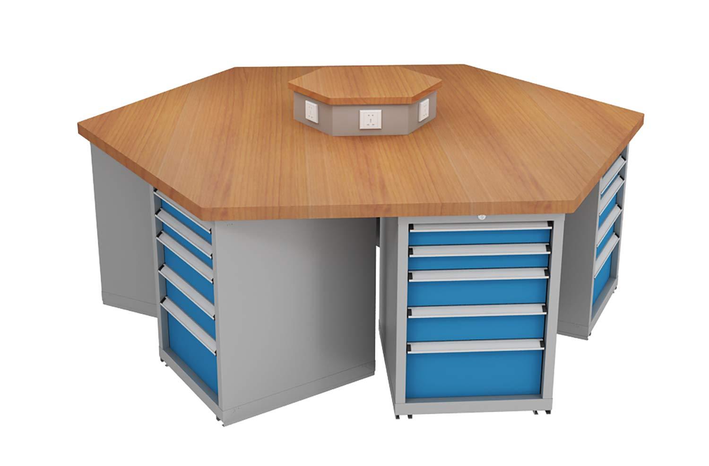 Miraculous Amazon Com Sjfrst Hexagon Workbench 30Mm 1 18In With Six Theyellowbook Wood Chair Design Ideas Theyellowbookinfo