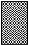 Lightweight Outdoor Reversible Plastic Rug Nirvana Black / White - 180 cm x 270 cm (6ft x 9ft)