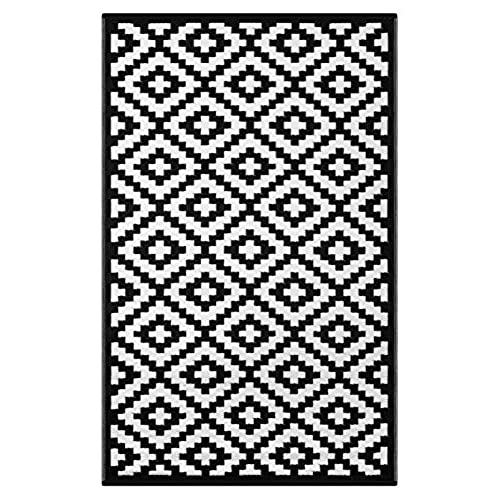 Well known Black and White Outdoor Rugs: Amazon.com TW76