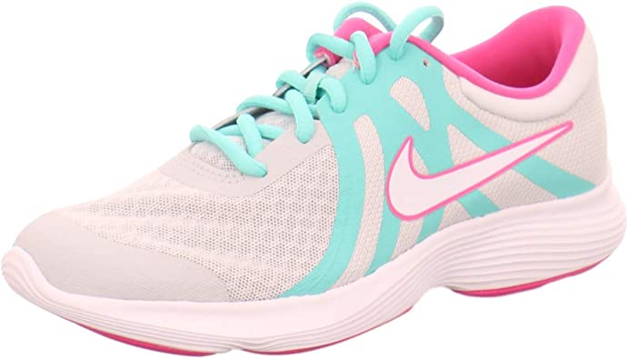 Nike Revolution 4 Aqua (GS), Zapatillas de Atletismo para Mujer, Multicolor (Pure Platinum/White/Tropical Twist 000), 36.5 EU: Amazon.es: Zapatos y complementos