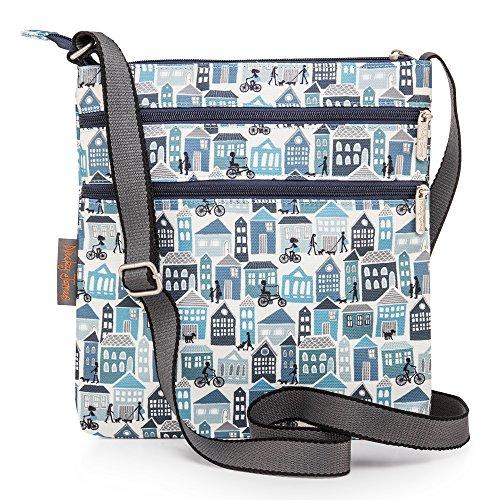 Nicky Houses Flat Crossbody Canvas Bag James Blue rIzwqxrE