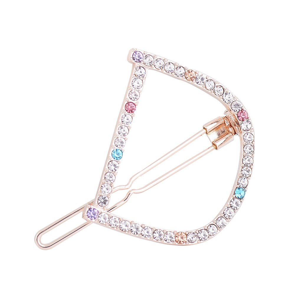 MUZHE Coloful Swash Letter Hairpin Creative Wedding Banquet Party Jewelry (D)